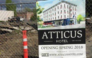 Atticus Hotel groundbreaking in McMinnville, Oregon on May 15, 2017