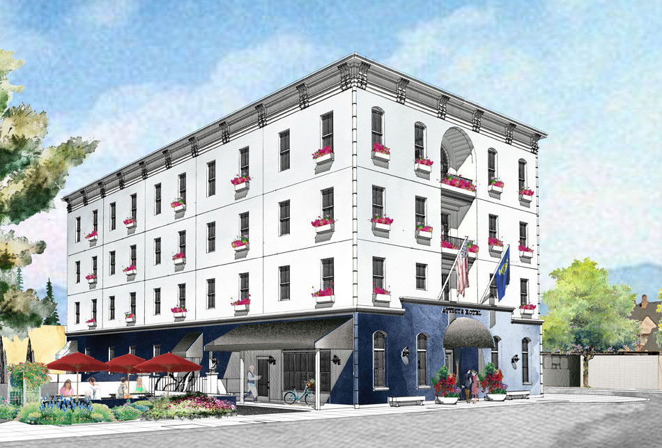 Rendering of Atticus Hotel in McMinnville, Oregon | Open Spring 2018