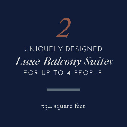 Atticus Hotel features 2 uniquely designed Luxe BalconySuites for up to 4 people in McMinnville, Oregon