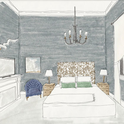 Rendering of a Micro Studio at the Atticus Hotel in McMinnville, Oregon
