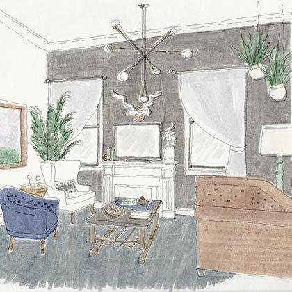 Rendering of the Penthouse at Atticus Hotel in McMinnville, Oregon