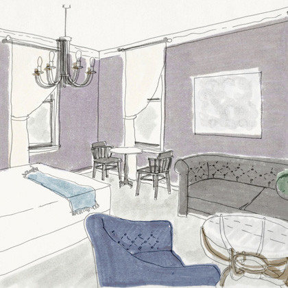 Rendering of a Studio at Atticus Hotel in McMinnville, Oregon