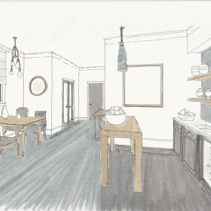Rendering of a Suite Luxe at Atticus Hotel in McMinnville, Oregon