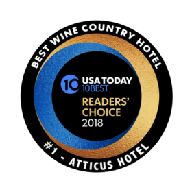 Atticus Hotel has been voted as the Best Wine Country Hotel
