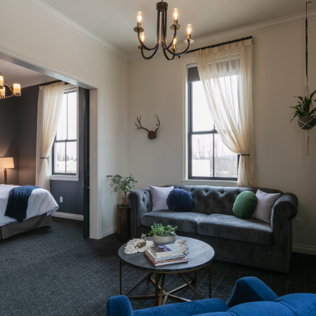 One of 12 uniquely designed Suites at Atticus Hotel in McMinnville, Oregon